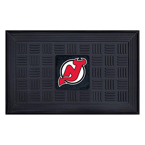 FANMATS NHL New Jersey Devils Vinyl Door (Devils Door Mat Rug)