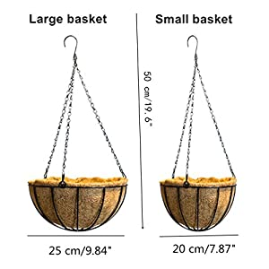 Mynse Daisy Flower Artificial Hanging Plant Home Balcony Indoor Outdoor Decor Fake Flower Hanging Basket with Chain Flowerpot 4