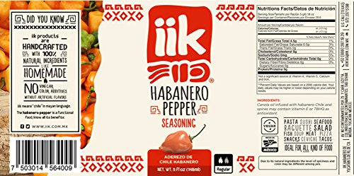 Amazon.com : IIK Brand-Habanero Chile Peppers Seasoning Oil-100% Pure Habanero Chiles from Yucatan-Great Condiment for Fish, Pasta, Salads, Tacos, Soups, ...