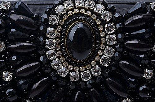 La nueva Europa y los Estados Unidos de moda de lujo paquete la noche cena Diamante artesanales Bolsos Bolso Black