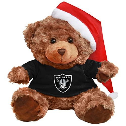 Oakland Raiders Bear With Santa Hat ()