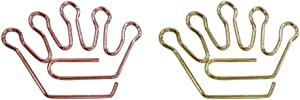 KOOBA Cute Paper Clips 20pcs Crown Shape Rose Gold and Yellow Gold, Funny Paperclips Bookmarks Planner Clips for Fun Office Supplies School Gifts Wedding Decoration