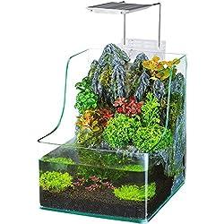 Penn Plax Planting Tank With Aquarium, Waterfall, LED Plant Grow Light, Sponge Filter, 1.85 Gallon