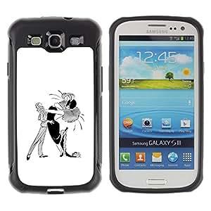 Suave TPU GEL Carcasa Funda Silicona Blando Estuche Caso de protección (para) Samsung Galaxy S3 III I9300 / CECELL Phone case / / Dance Caricature Man Woman Drawing Art /