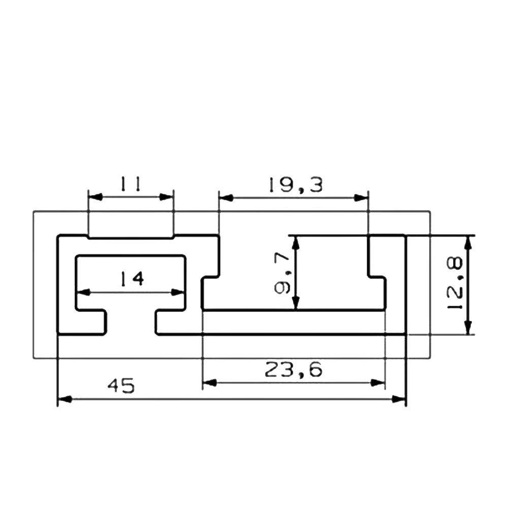 belupai 600//800//1000 1220mm T-Track en bois dalliage daluminium T-Slot Mitre Track