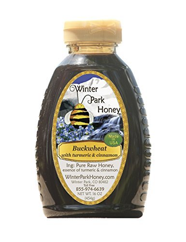 Buckwheat Honey with Cinnamon and Turmeric (Pure Natural Raw Honey) 16 Oz