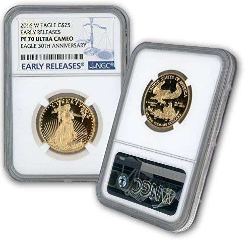 2016 W 1/2oz Proof Gold Eagle G$25 PF70UCAM NGC Early Releases-30th Anniversary Label (Gold Eagle Early Releases)