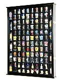108 Shot Glass Shotglass Shooter Display Case Holder Cabinet Wall Rack 98% UV Double Door -Black