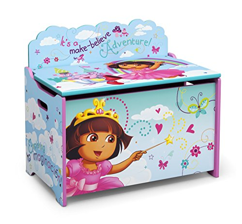 Delta Dora - Delta Children Deluxe Toy Box, Nick Jr. Dora the Explorer
