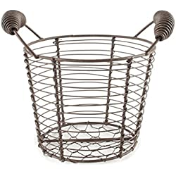 Blossom Bucket 131-36411 Round Tall Mesh Basket with Two Handles, 5-1/2 X 6""