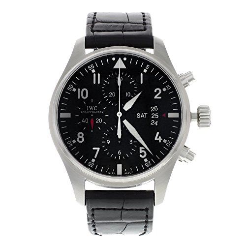 IWC Men's Swiss Automatic Stainless Steel Casual Watch, Color:Black (Model: IW377701)