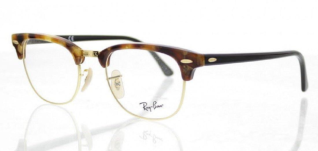 d67b4999528 RayBan RX 5154 Clubmaster RayBan RX5154 5494 Brown Fleck Optical Frames   Amazon.co.uk  Clothing