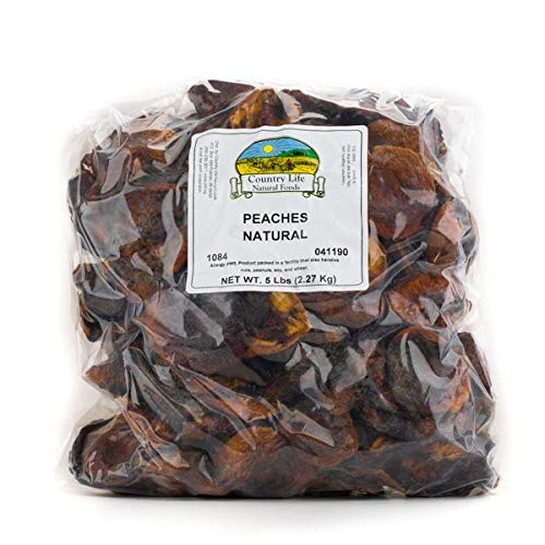 Bulk Dried Fruit, Peaches, Unsulphured, 5 Lbs