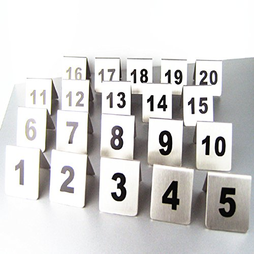 Bent Style Double Side Table Number Table Tent Card Place Cards for Hotel&wedding Reception with Matte Surface Set of Numbers 1 to 30