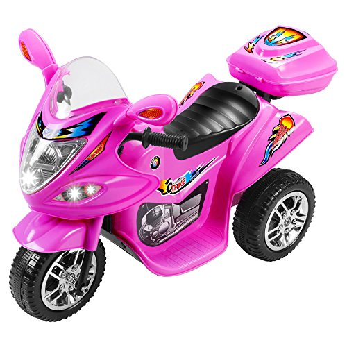 Motorcycle Cop Costumes (Pink 6V Kids Ride on Motorcycle Toy Battery Powered Electric Remote Control)