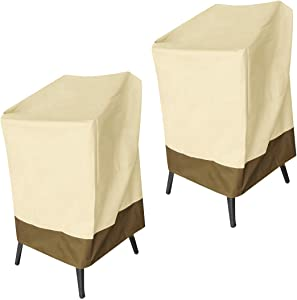 Vanteriam Outdoor Furniture Water-Resistant Patio Bar Chair & Stool Cover, 2 Pack