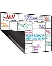 Magnetic Calendar Planner for Fridge 40x30cm, Reusable Monthly Fridge Calendar, Undated Planning Board Pad, Dry Erase with Waterproof & Stain-Resistant Surface - Help Track Your Goals, Habits, Schedules