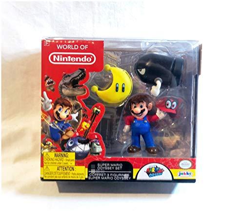(World of Nintendo Super Mario Odyssey Figure Set with Cappy)