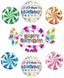 Its Your Birthday Candy Swirls Balloon Decoration Kit