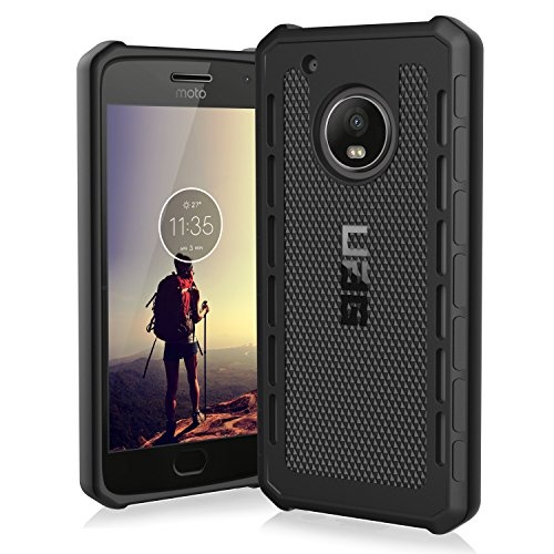 URBAN ARMOR GEAR [UAG Motorola Moto G5 Plus [5.2-inch Screen] Outback Feather-Light Rugged [Black] Military Drop Tested Phone Case