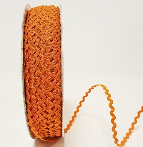 Orange 5/mm Ric Rac Trim par Berties Bows sur une longueur de 3/m Coupe /à partir dun rouleau et pr/ésent/é sur une carte ruban Berties