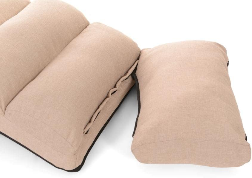 Beige Porpora Relaxing Folding Futon Sofa and Comfortable Lounge Sofa