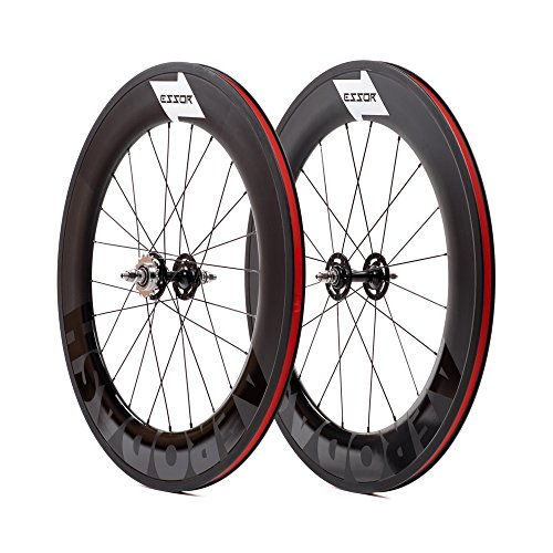 Essor USA Carbon Clincher Track Wheel Set, Front + Rear, 88mm Aerodash