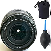 Canon 18-135mm IS STM Lens (WHITE BOX) + Deluxe Lens Blower Brush + Lens Carrying Pouch