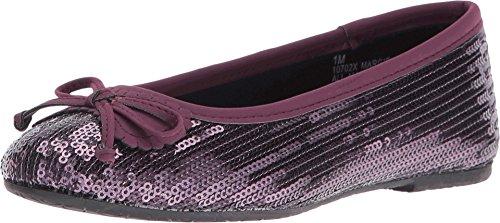 Sequin Flat Shoe (Rachel Kids Girl's Margie (Little Kid/Big Kid) Purple Sequins Flat 3 Little Kid M)