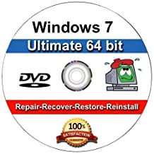 Windows 7 Ultimate 64-Bit Install | Boot | Recovery | Restore DVD Disc Disk Perfect for Install or Reinstall of Windows