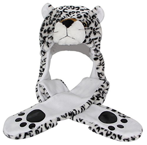05faafc110a Bioterti Plush Novelty Animal Hat 3 in 1 Beanie with Long Paw Scarf ...