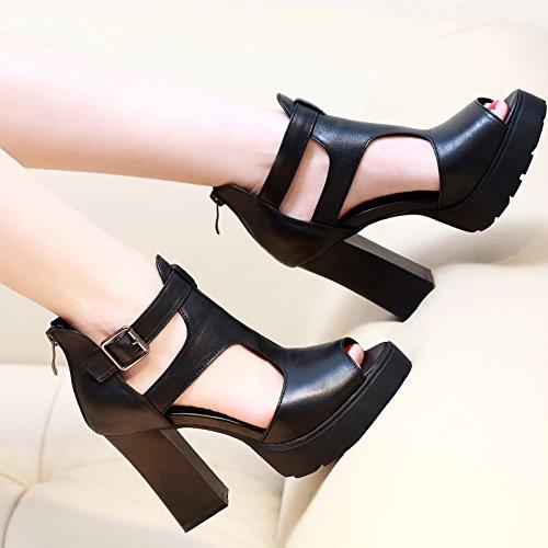 48 Épais Romain Enfants Chaussures Chaussures Avec 5 Bouche Imperméable Poisson Poisson High UK3 Bouche Taiwan Heeled De SHOESHAOGE EU36 q0Un6vR