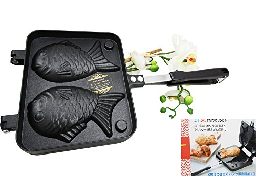 Personal Size Traditional Aluminum Japanese Taiyaki Fish Shaped Hot Dessert Waffle Cake Maker Pan