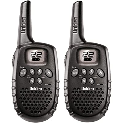 Uniden 16-Mile 22 Channel Rechargable FRS/GMRS Two-Way Radio Pair - Black (GMR1636-2C)