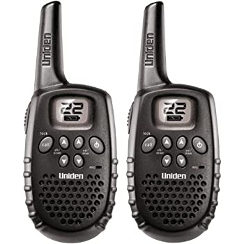 Uniden GMR1635-2 22-Channel 16-Mile Range FRS/GMRS  Battery Operated Two-Way Radios - Set of 2 - Black
