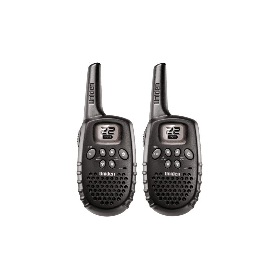 Uniden 16 Mile 22 Channel Rechargable FRS/GMRS Two Way Radio Pair Black (GMR1636 2C)