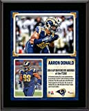 """Aaron Donald St. Louis Rams 2014 NFL Defensive Rookie of the Year 10.5"""" x 13"""" Sublimated Plaque - Fanatics Authentic Certified"""