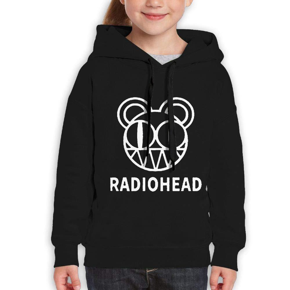 MUPTQWIU Teen Radiohead Logo Classic Baseball Black Fleeces