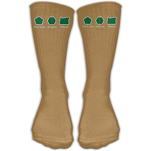 Pentagon! Octagon! Oregon! Fashion Unisex Knee High Long Socks 30 - Pentagon Octagon