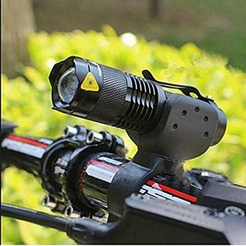 BESTSUN CREE Q5 LED 350 Lumens Mini Flashlight Zoomable Torch AA, Ultra Bright Bike Headlight Set