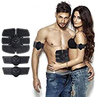 skyfish Muscle Exerciser Trainer Smart ABS Stimulator With ABS Stickers Pad For Body Slimming Massager Fitness Gym For Unisex