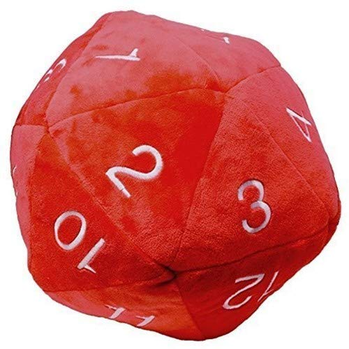 Ultra Pro Jumbo D20 Dice Plush in Red with White ()