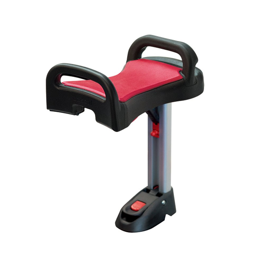 Lascal BuggyBoard Saddle, Red, Accessory Seat That Clamps On To The BuggyBoard Maxi Ride-On Stroller Board, Perfect Seat For The Older Sibling