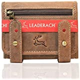 Leaderachi Hunter Leather Men's Wallet with Button (Comia-Muskat)
