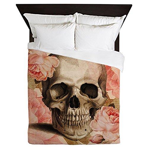 CafePress - Vintage Rosa Skull Collage - Queen Duvet Cover, Printed Comforter Cover, Unique Bedding, Lightweight
