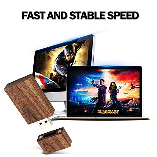 USB 16GB Flash Drive 10 Pack, EASTBULL Wooden USB Flash Drives Thumb Drives Memory Stick USB 2.0 Pen Drive for Date… |