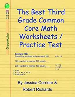 the best third grade common core math worksheets practice test first edition jessica corriere. Black Bedroom Furniture Sets. Home Design Ideas