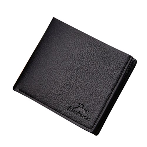 Men Boys Teens Xams Gift Concise Wearable PU Leather Multi Position Wallet Purse