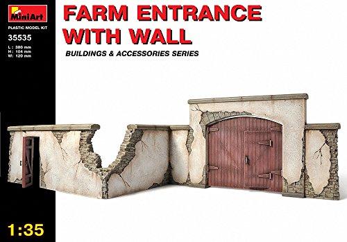 """MINIART Echelle 1: 35""""ferme avec mur d'entrée Kit de modèle en plastique (Gris)"""