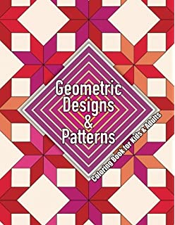 Geometric Designs Patterns Coloring Book For Kids Adults Volume 41 Sacred Mandala